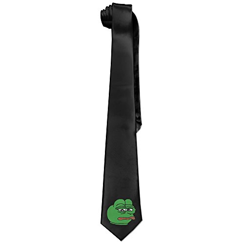 Ggift Sad Frog Mens Fashion Business Solid Necktie Ties (Chicken Fight Adult Costume)