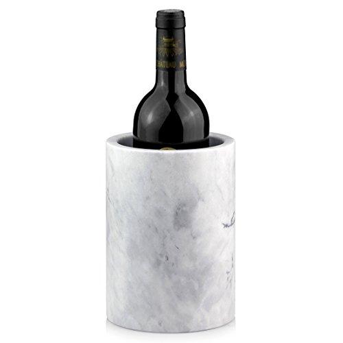 - Linkidea Elegant Wine Cooler, Champagne Chiller, Ice Wine Cooler, Flower Vase, Storage Holder, Kitchen Utensil Holder Natural Marble Multi-Functional Tool Crock (White)