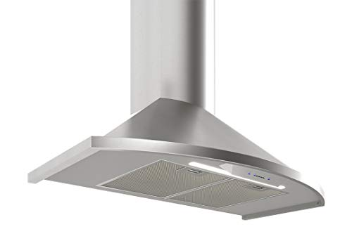 Zephyr ZSAE30DS Essentials Europa Series 30 Inch Wall Mount Convertible Hood with 685 CFM Blower Supported, in Stainless Steel (Zephyr Range Hoods)