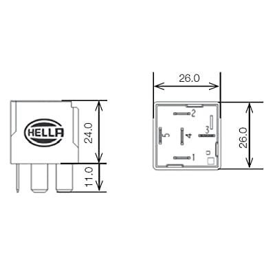 HELLA 007794021 12V 20/40 Amps SPDT Relay: Automotive
