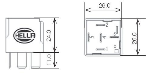 Amazon.com: A 007794021 12V 20/40 Amps SPDT Relay: Automotive