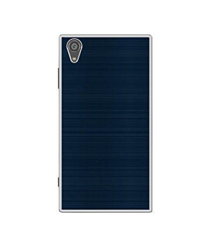 casotec blue line design printed silicon soft tpu back case cover for sony xperia xa1 plus   Blue