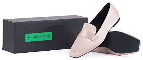 Mocassino Penny Mio Marino - Mocassino Piatto Quadrato Per Donna - In Confezione Regalo Champagne
