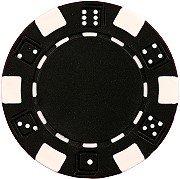 Da Vinci 50 Clay Composite Dice Striped 11.5-Gram Poker Chips (Black) -