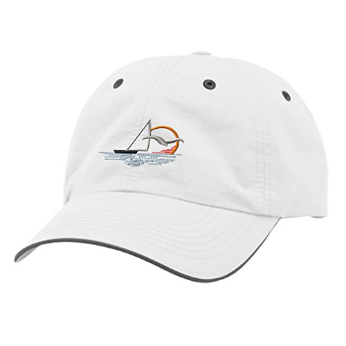 Speedy Pros Sun Set and Sailboat Embroidery Design Richardson Polyester Water Repellent Cap (Sailboat Embroidery Designs)
