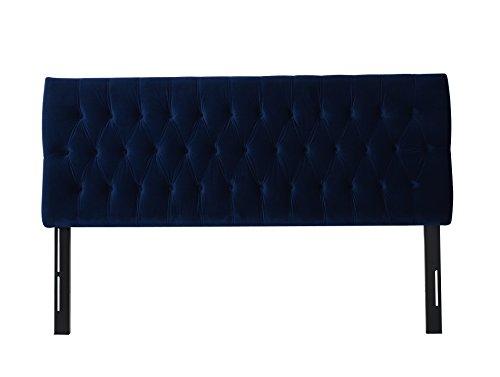 Jennifer Taylor Home Maya Collection King Size Size Modern Adjustable Diamond Tufted Headboard, King Size, Navy
