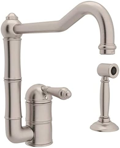 Rohl Single Handle Kitchen Faucet with Side Hand-Spray System