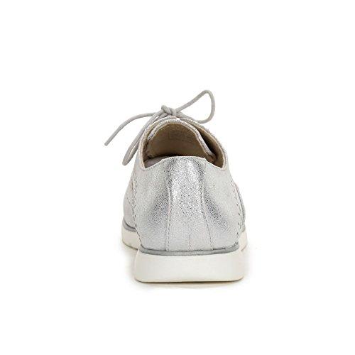 by Punta acordonados Scarpe Planos Zapatos OBSEL trabajada Argento amp;Scarpe con Zapatos dqgSdP