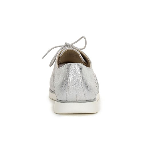 amp;Scarpe Scarpe Argento trabajada acordonados by Planos Punta con OBSEL Zapatos Zapatos qZnSxR5E