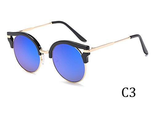 Gafas De De Del De 1603C5 Bastidor Oro Revestimiento El Mujer 1603C3 Sol Espejo TIANLIANG04 Insólito gqwdSg