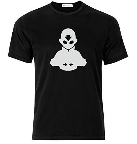 Bonus Creation Avatar The Last Airbender Aang T-Shirt Eye-Catching T-Shirt (X-Large) Black