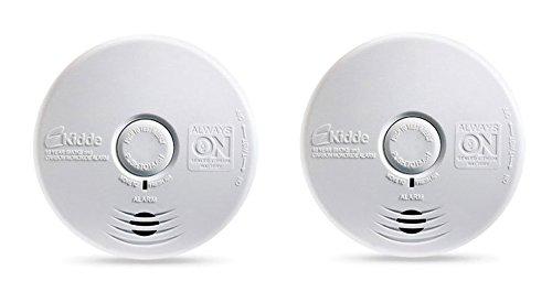 Kidde P3010K-CO Worry-Free Kitchen Photoelectric Smoke and Carbon Monoxide Alarm with 10 Year Sealed Battery (Pack of 2) by Kidde