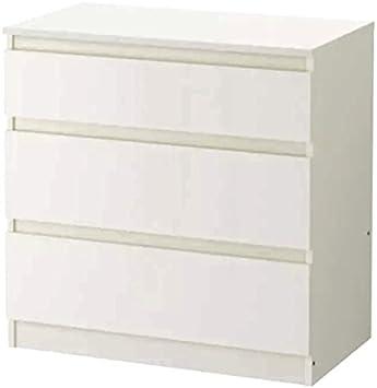 Cajonera Ikea Kullen, con 3 cajones, plástico, Blanco, 70x72cm ...