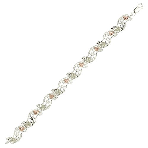 Black Hills Silver Bracelet in 12k Gold Accents