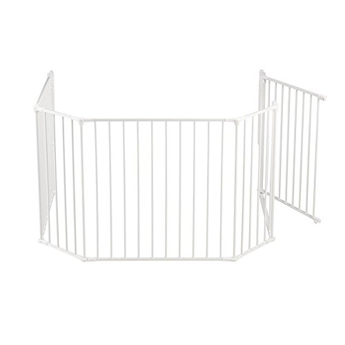 BabyDan Flex Hearth Gate Extra Large 35.4-109.5'', Black