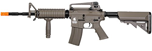 Lancer Tactical lt-04t m16 RIS Electric Airsoft Gun Metal Gear fps-400(Airsoft ()