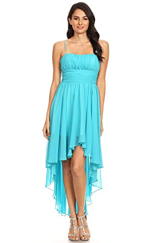 Aqua Evening Dress LA DFI Hi Lo TCwXHHq