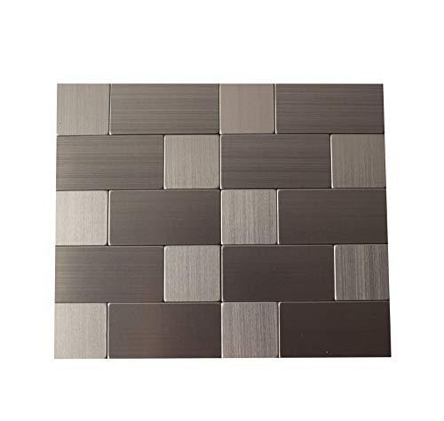 "Peel and Stick Wall Tile, backsplash for Kitchen, Modern and Sleek Look (5""×6"" Stick on backsplash Tile)"