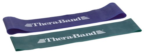 2bfcfec73 TheraBand Professional Latex Resistance Band Loop Set for Lower Pilates