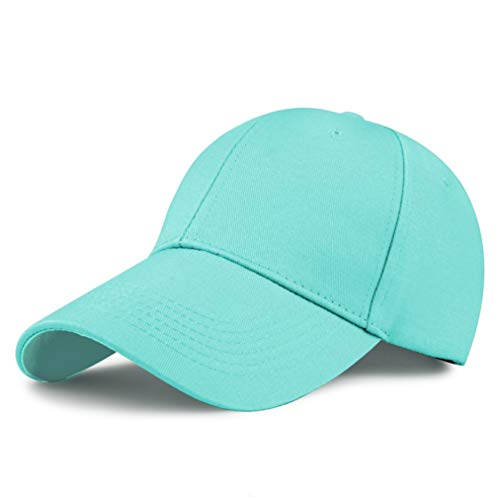 (GADIEMKENSD Cotton Baseball Cap, Quick Dry Lightweight Breathable Soft Outdoor Run Cap Plain Youth Sports Dad Hat Dads Structured Fitted Hats Mens Caps Classic 6 Panel Simplicity Solid Color Sky Blue)