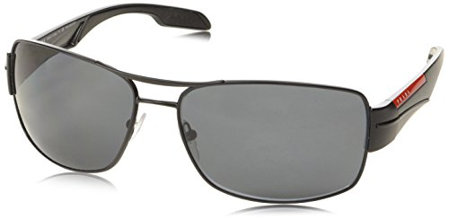 Sport hombre Rectangulares negro mm para talla Prada 65 color de sol Gafas dwxYaO