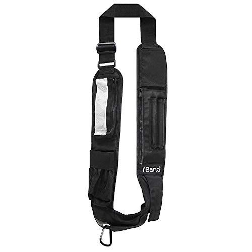 iBand Sling Adjustable Cross Body Sling, Black w/Oversize Pocket