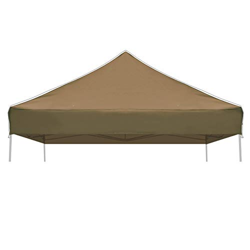 Strong Camel Ez pop Up Canopy Replacement Top Instant 10'X10' Gazebo Canopy Cover Patio Pavilion Sunshade Polyester-Brown Color ()