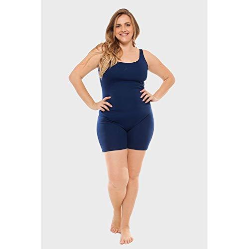 Macaquinho Plus Size Fitness Marinho-0054