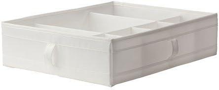 Ikea SKUBB Caja con Compartimentos, Poliéster, Blanco, 77x18x3 cm ...