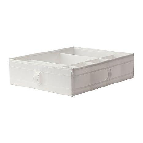 Ikea SKUBB Caja con Compartimentos, Poliéster, Blanco ...