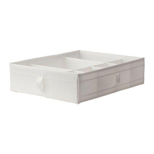 Ikea SKUBB Caja con Compartimentos, Poliéster, Blanco, 77x18x3 cm: Amazon.es: Hogar