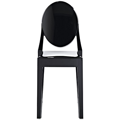 2xhome - Set of 4 (4 Chairs in total!), Black, Victoria S...