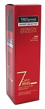 TRESemme Keratin Smooth 7 Day Smooth System Heat Activated Treatment 3 oz Pack of 3