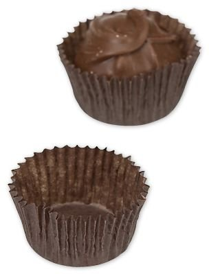 (Brown Glassine Candy Cups, 1 1/4 x 3/4