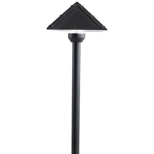 12 Solid Light (12V / 120V Pyramid Solid Brass Pathway Light - PASH900 (Black,)