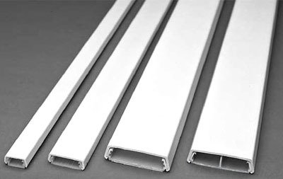 Wiremold 400BAC-WH White PVC Single-Channel Non-Metallic 2-Piece Raceway Base and Cover 7/8 Inch x 7/16 Inch x 5 ft 400 (400 Series Single)