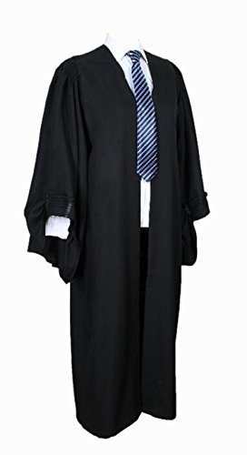 GradPlaza Adult Barrister Gown Black (Judges Robe)