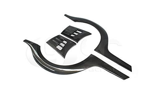 Mudguards Car-Styling Carbon Fiber/FRP Rear Fender Kit Fit For 08-17 R35 GTR CBA DBA Top Secret Style +10mm Over Rear Fender Flare - (Color: Carbon Fiber)