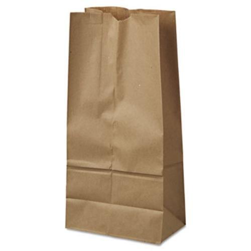 General Supply 18416 16 Paper Grocery Bag, 40lb Kraft, Standard 7 3/4 X 4 13/16 X 16, 500 Bags