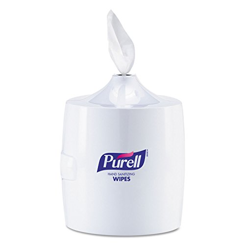 31W3WS-GNtL PURELL 9019-01 White Sanitizing Wipes Large Wall Dispenser
