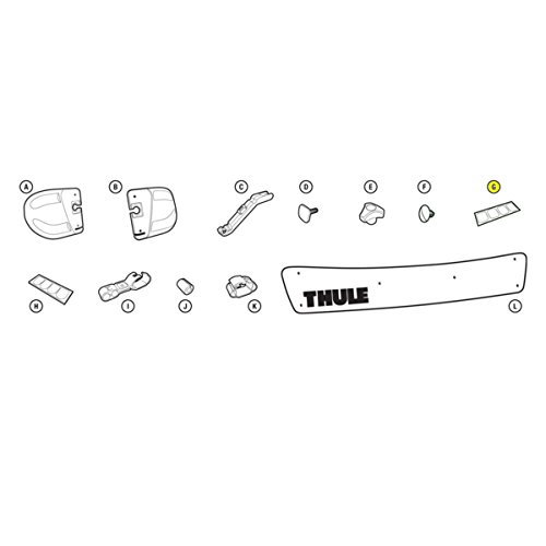 Thule Roof Rack Fairing Replacement Clear Film - 8535481