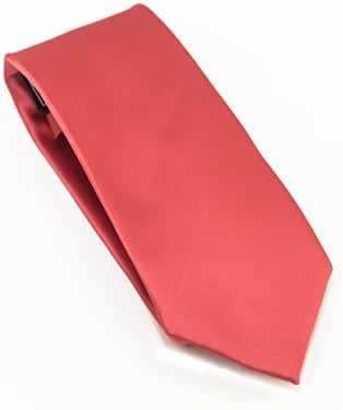 100% Silk Satin Solid Color Tie