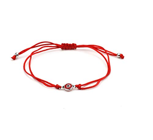 (Evil Eye Red String Rope Bracelet Thread Charm Lucky Amulet Jewish Jewelry-red)
