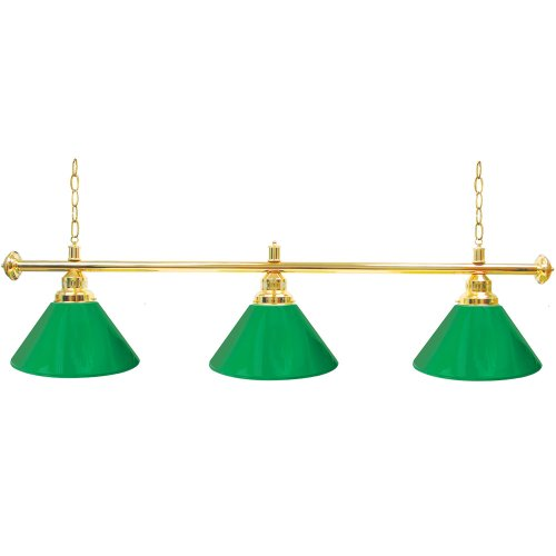 Trademark Gameroom Green Three Shade Gameroom Lamp, 60