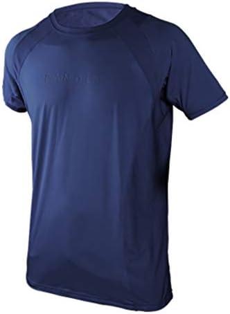 スポーツ用アンダーシャツ ストレッチ素材 半袖 メンズ ネイビー 3L
