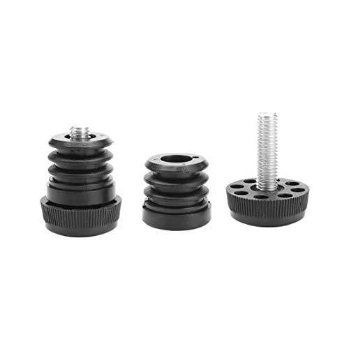 "uxcell Leveling Feet 1"" 25mm OD Plastic Round Tube Inserts Kit Furniture Glide Adjustable Leveler for Sofa Leg 2 Sets"