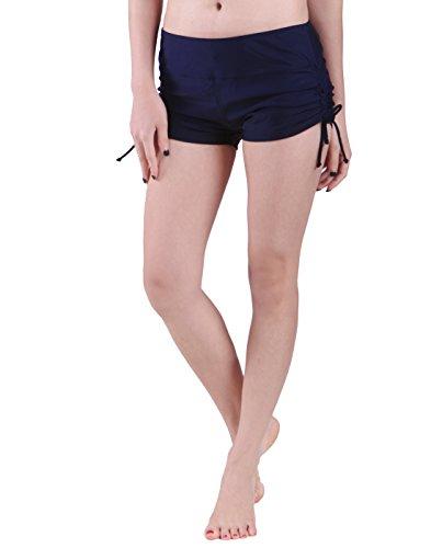 HDE Womens Swim Brief with Ties Mini Boy Short Bikini Bottoms Swimsuit Separates