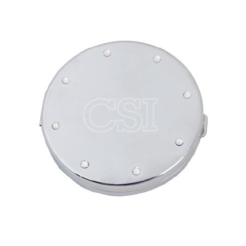 College of Staten Island Silver Bling Compact Mirror 'CSI Engraved'