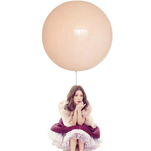 36 Inch Big Round Balloons 5 Pack Macaron Champagne Thick Giant Balloons for Photo Shoot Wedding Baby Shower Birthday Party Decorations by IN-JOOYAA ()