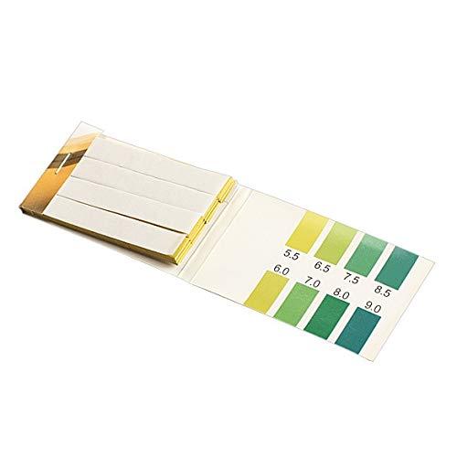 BIN BON - 80 Strips PH Range 5.5-9.0 PH Alkaline Test Indicator Papers Water Litmus Testing Kit Lab Supplies NG4S ()